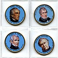 """США набор 2009 президенты США ЦВЕТНЫЕ """"золотые доллары"""" UNC"""