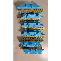 Клеммная колодка на DIN-рейку (5х16мм2 + 6х10мм2), Синяя Hager