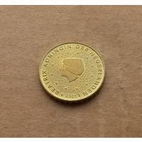 Нидерланды, 10 евроцентов 2001 г.