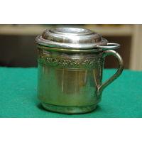 Заварник для чая ( латунь с серебрением )