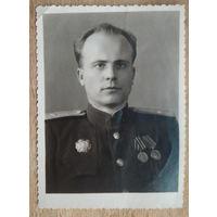 Фото майора. Орден Александра Невского. 9х11.5 см