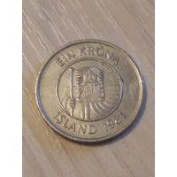 Исландия 1 крона 1981г.