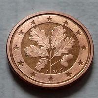 1 евроцент, Германия 2005 A, proof (из набора)