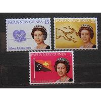 Папуа Новая-Гвинея 1977 г. Королева Елизавета II.