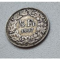 Швейцария 1/2 франка, 1907 7-6-24