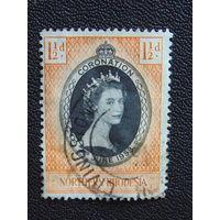 Северная Родезия 1953 г. Королева Елизавета. -II. Коронация.
