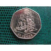 50 пенсов, Великобритания, 2011, Бочча