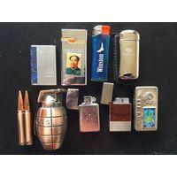 Зажигалки газовые (коллекция, одним лотом - 9 шт.).