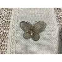 Брошь Бабочка Ювелирная сеточка Германия винтаж