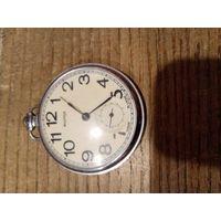 """Часы карманные """"Молния"""", 50-е, СССР, рабочие. 5 камней"""