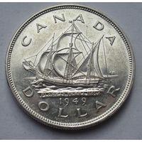 Канада, доллар, 1949, серебро
