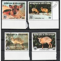 Фауна Кот-д'Ивуар 1985 год серия из 4-х марок