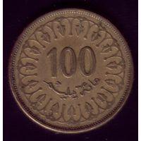 100 миллимов 1997 год Тунис