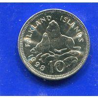 Фолклендские острова 10 пенсов 1998 UNC