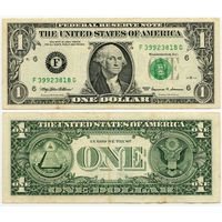 США. 1 доллар (образца 1999 года, F, Джорджия, P504)