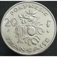 1к Французкая Полинезия 20 франков 1970 В ХОЛДЕРЕ распродажа коллекции
