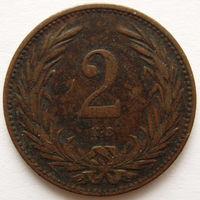 Венгрия 2 филлера 1895 года