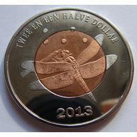 О.Синт-Эстатиус 2,5 доллара 2013 г