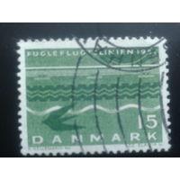 Дания 1963 птица над водой