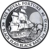 Монета Чёрный Флаг, Королевская Удача, Серебро, 1 oz, тираж 15 тыс.
