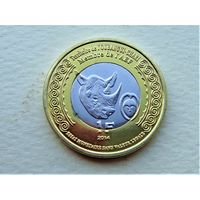 """Убанги-Шари (Ц.А.Р.) 1 франк 2014 """"100 лет Первой Мировой"""""""