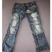 Фирменные креативные мужские джинсы Ringspun р-р 54-56.