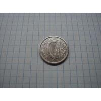Ирландия 1 шиллинг 1928, серебро;
