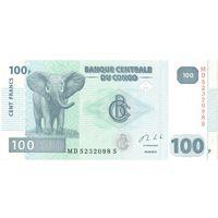 YS: Конго, 100 франков 2013, UNC