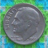 США 10 центов 1965 года, Фрaнклин Делано Рузвельт. Подписывайтесь! Много новых лотов в продаже!!!