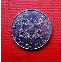 80-08 Кения, 1 шиллинг 1989 г.