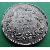 Люксембург. 2 1/2 сантимов 1901. Много лотов в продаже.