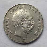Германия, Саксония, 2 марки, 1900, серебро