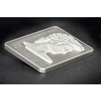 "Острова Кука 5 долларов 2010г. ""Микеланджело. Давид. Мрамор"". Монета в капсуле; сертификат. СЕРЕБРО 25гр."