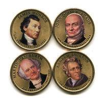 """США набор 2008 президенты США ЦВЕТНЫЕ """"золотые доллары"""" UNC"""