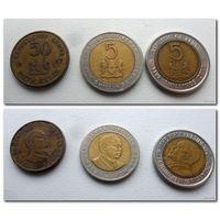 Монеты Кении 3 шт (цена за все) - из коллекции