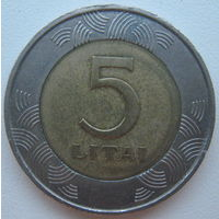 Литва 5 лит 1999 г.