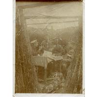 Уютное утро, залитое солнцем на командном пункте I/L.72 (I батальон пехотного полка ландвера) / Траншея у Щары Россия 4/5/1916