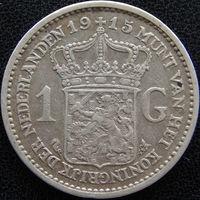 YS: Нидерланды, 1 гульден 1915, серебро, KM# 148