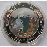 Палау, 5 долларов, 1999, Миллениум, серебро, пруф