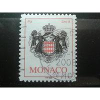 Монако 2006 гос герб Михель-1,1 евро гаш