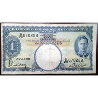 Малайа, 1 доллар 1941 год, Р11