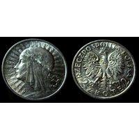 2 злотых 1932 (1) UNC, штемпельный блеск, люстр, коллекционное состояние