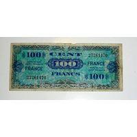 Франция 100 франков 1944г.военные. Редкая! Праздничная распродажа. P1-123