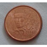 1 евроцент, Франция, 2014