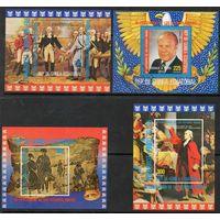 Знаменитые люди США Экваториальная Гвинея 1975 год 4 блока