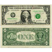 США. 1 доллар (образца 2003 года, 2003A, G, Иллинойс, P515b)