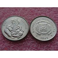 Доминиканская республика 10 сентаво 1991 UNC