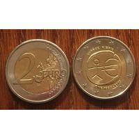 """Кипр, 2 евро 2009. Юбилейная """"10 лет монетарной политики ЕС (EMU) и введения евро"""""""