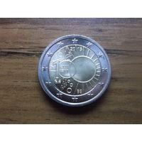 Бельгия 2 евро 2013  100 ЛЕТ КОРОЛЕВСКОМУ МЕТЕОРОЛОГИЧЕСКОМУ ИНСТИТУТУ БЕЛЬГИИ