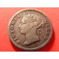 5 центов 1901 года Гонконг